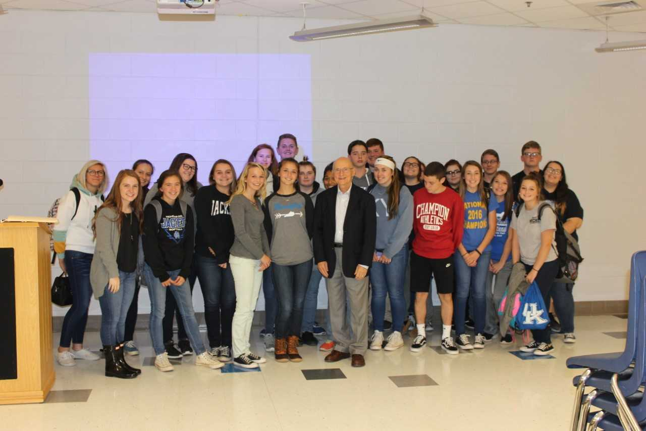 Mr. John Rosenberg, Holocaust survivor visits NCMHS